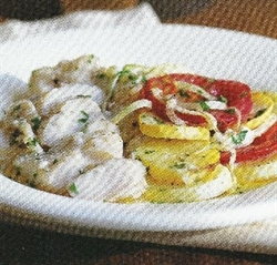 Picture of Baked Cod with Squash and Tomato