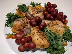 Picture of Chicken with Acorn Squash and Roasted Grapes by Dana Azimi